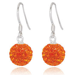 CB2035 | Crystal Ball Dangle Earring - Tangerine