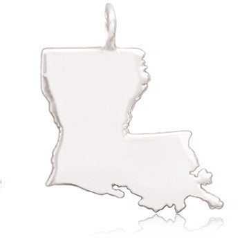80LA | Sterling Silver Pendant - Louisiana