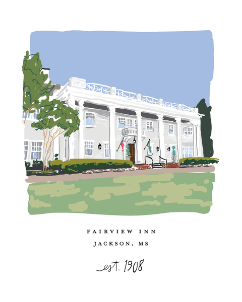 Fairview Inn, Jackson - Art Print