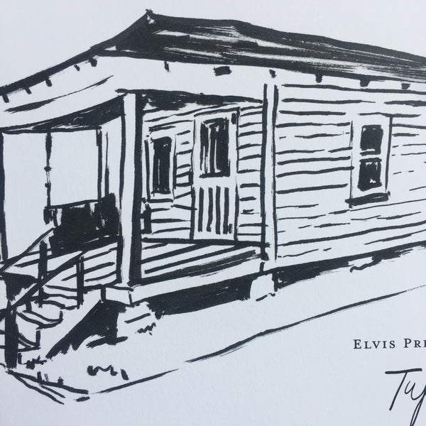 Elvis Presley Birthplace, Tupelo- Art Print