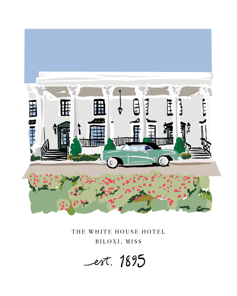 The White House Hotel, Biloxi- Art Print