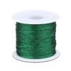 Green Twine String,100M Green Thread Twist Ties with Coil,Green Metallic String for Christmas String,Polyester String Jewelry Cord, DIY Craft String Thread and Packing String - JijaCraft