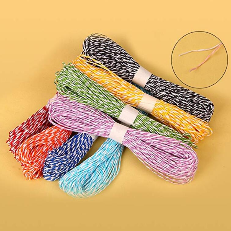 120 Yards Craft Raffia Stripes Paper String for DIY Making,Gift Packing,12 Colors(10 Yards of Each Color) - JijaCraft