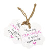 100 Pcs From My Shower to Yours with Love Tags and 100 Feet Jute Twine,Pink Bridal Shower Favor Tags,Baby Shower Favor Tags - JijaCraft