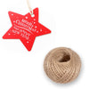 100 PCS Star Shaped Christmas Gift Tags with String, Merry Christmas Paper Hang Tags with 100 Feet Natural Jute Twine - JijaCraft