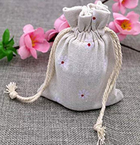20 PCS Chic Cotton Burlap Drawstring Pouches 9*12CM Gift Bags Wedding Party Favor Jewelry Bags - JijaCraft