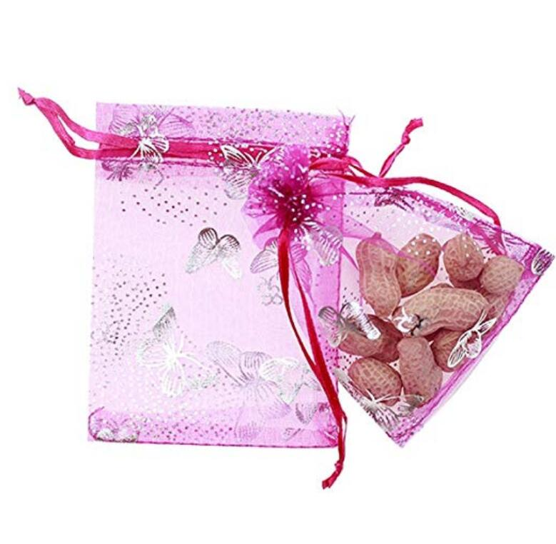 f41039ec5945 100PCS 9X12CM Drawstring Organza Jewelry Favor Pouches Wedding Party  Festival Gift Bags