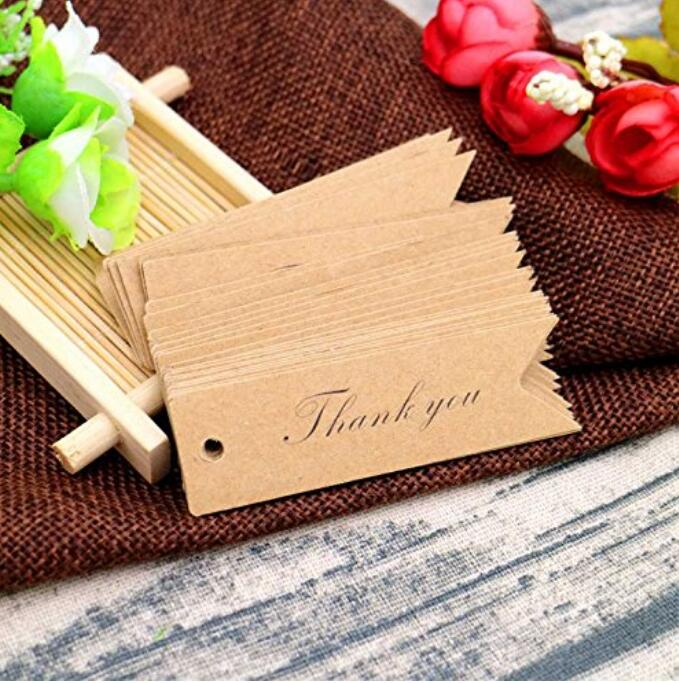 Kraft Paper Gift Tags, 100PCS Wedding Tags,Bonbonniere Favor Gift Tag with Jute Twine 30 Meters for DIY Crafts & Price Tags - JijaCraft