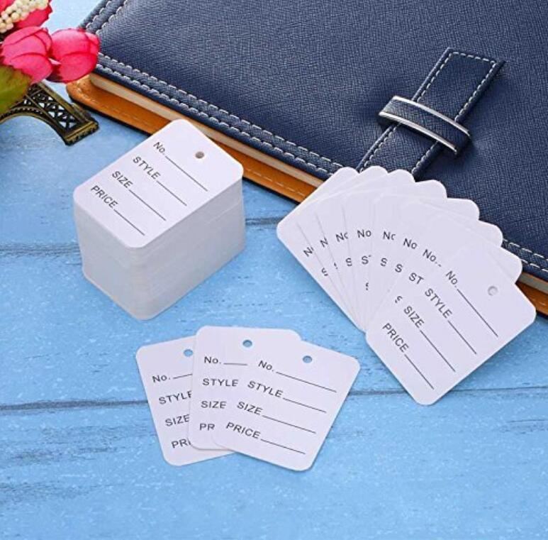 White Price Tags,1000PCS Commodity Marking Paper Tags,5x3.5CM Yard Sale Pricing Standard Paper Label - JijaCraft