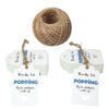 Gift Tags Thanks for Popping By to Celebrating with Us,100Pcs Paper Hang Tag for Wedding,Baby Shower Party Favors with 100 Feet Jute Twine (Dark Blue) - JijaCraft