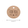 For You Tag,4.3 CM Round Tags 100PCS Kraft Paper gift Tag,Price Tag with String for Wedding Party Favors - JijaCraft