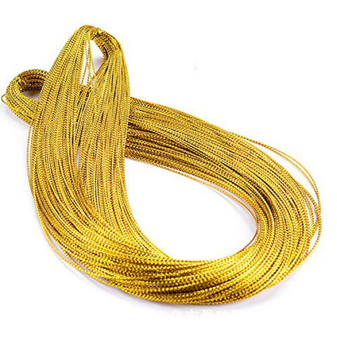 100M/328 Feet Gold Wire Twist Ties / Bag Sealers Coloured Plastic with Wire for Party Favors Bakery Cello Candy Cookie Treat Bags - JijaCraft