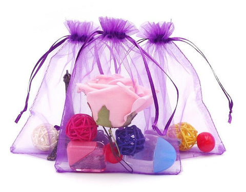 100PCS Extra Large Organza Gift Bags 13X18CM Jewelry WeddingDrawstring Pouches - JijaCraft