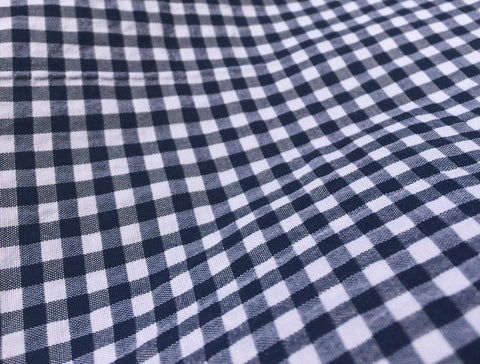 Organic Cotton Check Poplin with Crinkle finish - Vivify Textiles