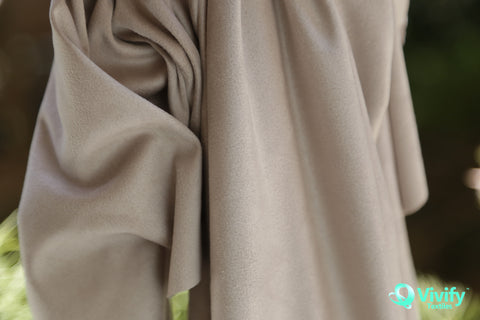 Double sided Recycled Polyester Suede Cream - Vivify Textiles