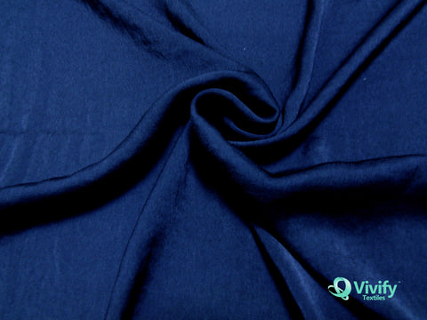 Recycled Polyester French Chiffon Black - Vivify Textiles