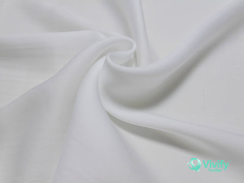 Recycled Polyester French Chiffon White - Vivify Textiles