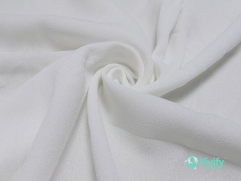 Recycled Polyester Mess Chiffon White