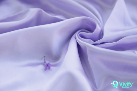 Recycled Polyester Satin Fabric Shiny - Vivify Textiles