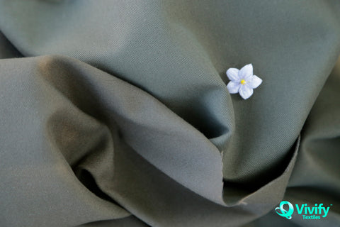 Organic Cotton / Recycled Polyester Twill with Micro Peach - Vivify Textiles
