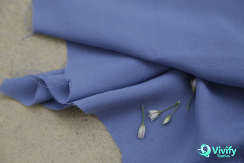 Recycled Polyester Mess Chiffon Blue
