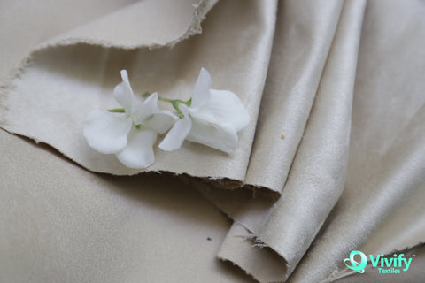Recycled Polyester Suede Fabric Olive - Vivify Textiles