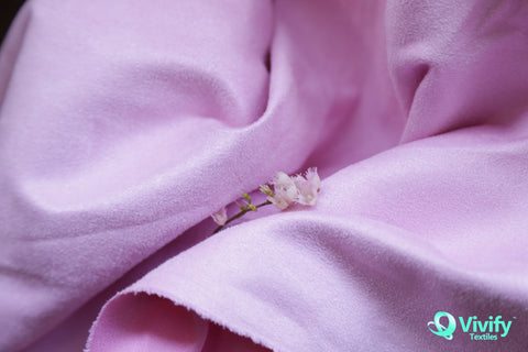 Recycled Polyester Suede Fabric Pink