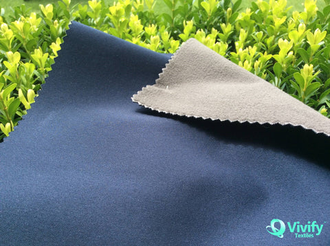 Recycled Polyester Interlock with Bamboo Charcoal Fleece, DWR+Anti bacterial+Anti Fungus - Vivify Textiles