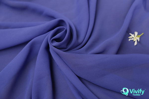 eabf06c6 Recycled Polyester Chiffon Blue See through – Vivify Textiles