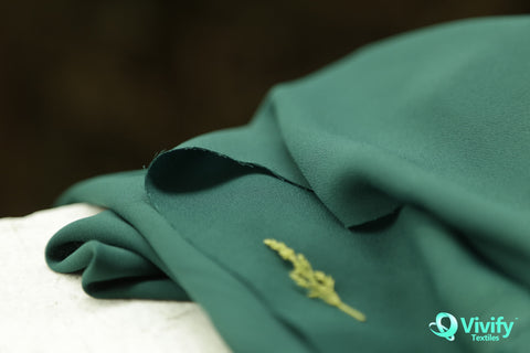 Recycled Polyester Chiffon Dark Green - Vivify Textiles