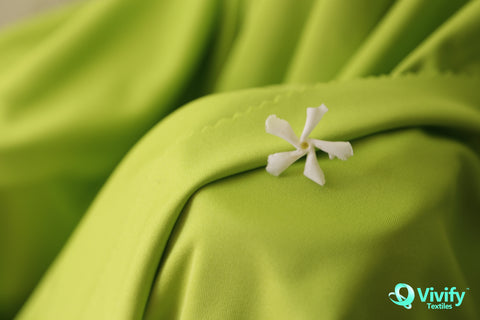 Recycled Polyester interlock fabric Green - Vivify Textiles