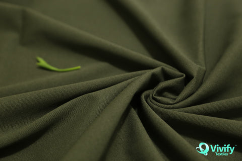 Recycled Polyester Woven Fabric 4 way Stretch, Rain Tested
