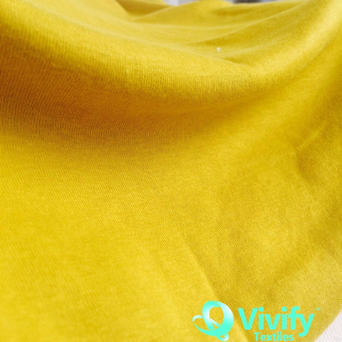 Organic Cotton Jersey Yellow - Vivify Textiles