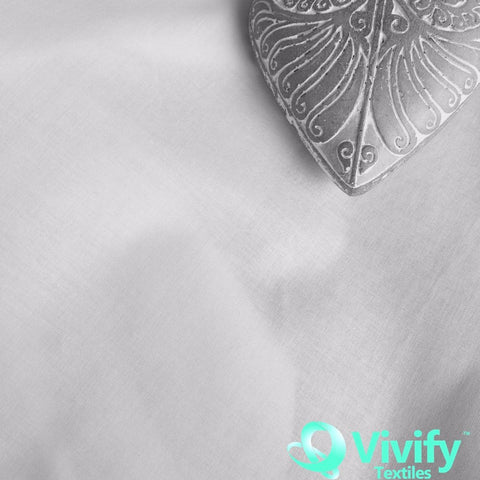 Organic Cotton Plain Woven White - Vivify Textiles