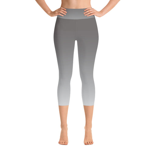Ombre High-Rise Yoga Capri Leggings- Mindful Gray
