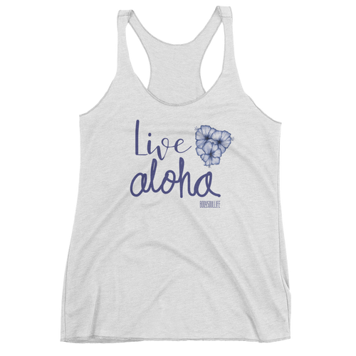 Live Aloha Racerback Tank- Multiple Colors