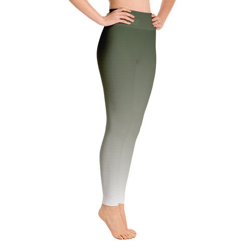 Ombre High-Rise Yoga Leggings- Faded Palm