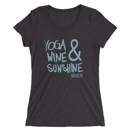 Yoga Wine & Sunshine Tee- Multiple Colors