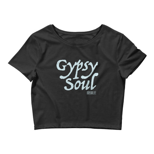 Gypsy Soul Crop Tee- Black