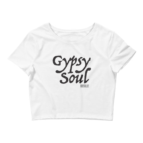 Gypsy Soul Crop Tee- White