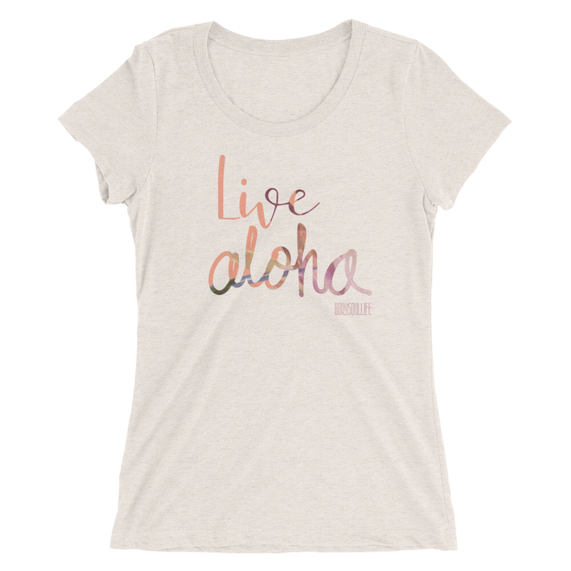 Live Aloha Scoopneck Logo Tee-Multiple Colors