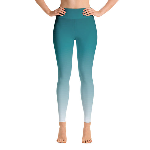 Ombre High-Rise Yoga Leggings- Faded Azure