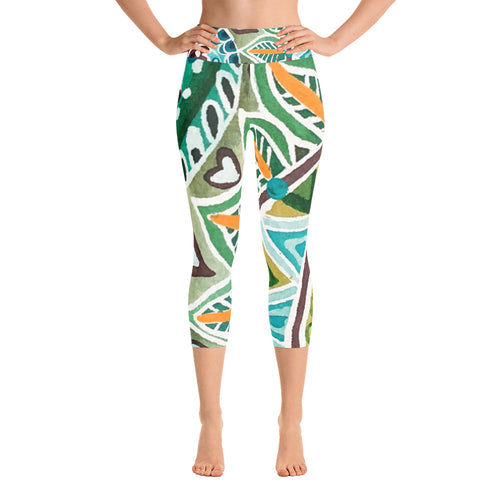 Island Vibes Yoga Capri Leggings