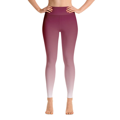 Ombre High-Rise Yoga Leggings- Faded Rosewood