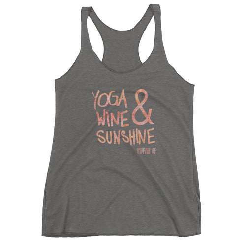 Yoga Wine & Sunshine Racerback Tank- Muted Colors