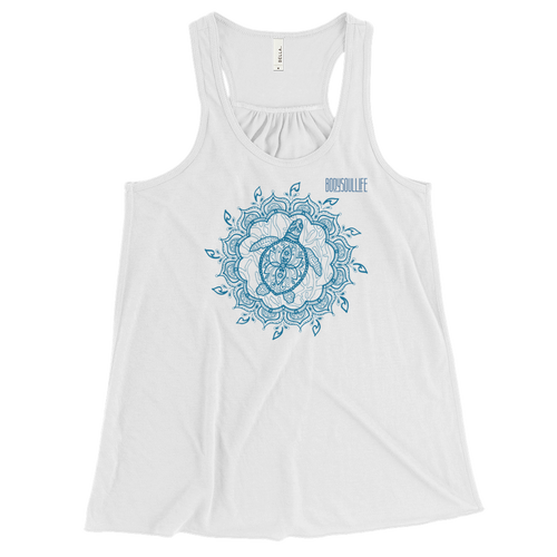 BSL Artist Collection- Mandala Turle Print Tank