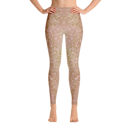 Batik Radiance Yoga Leggings- Sandstone Savasana