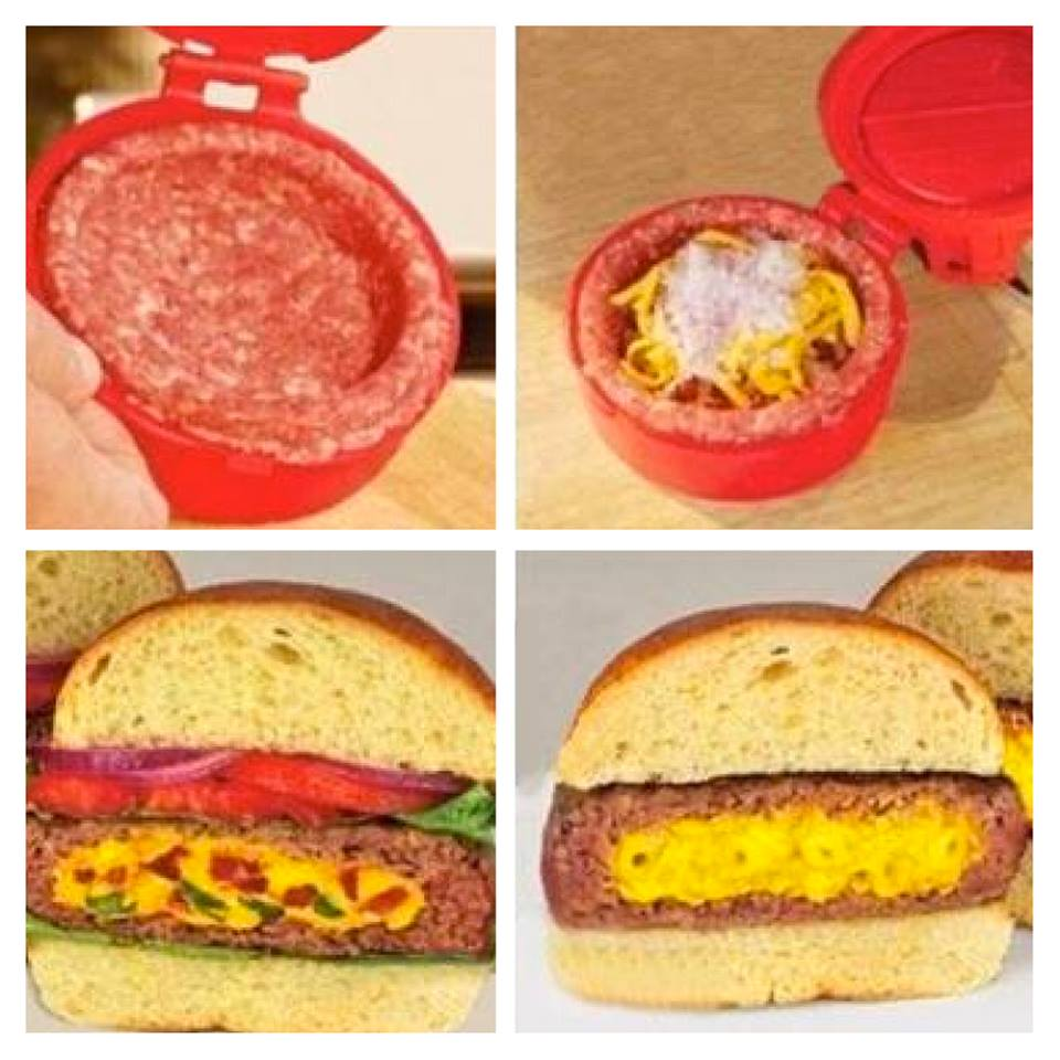 3-in-1 Burger Press, Stuffed Hamburger & Meatball Maker