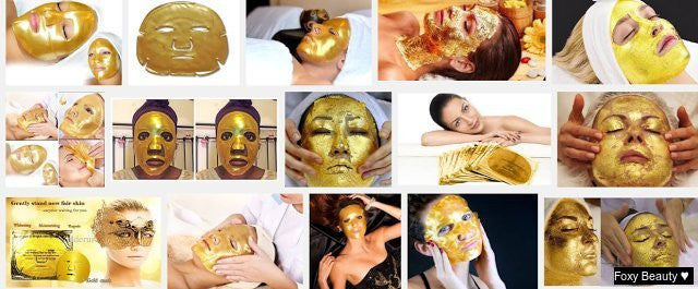 Spoil your self with one of our Gold Masks.