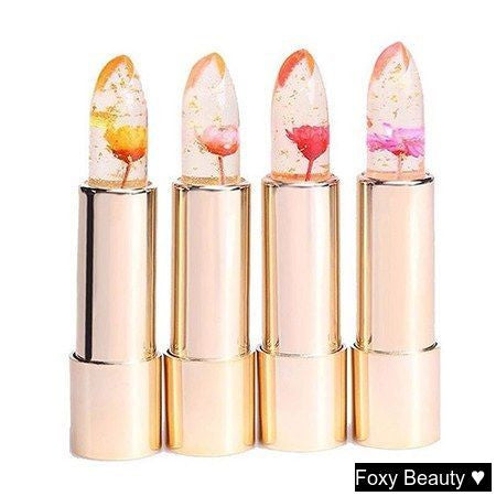 See the lipsticks made with real flowers in them.